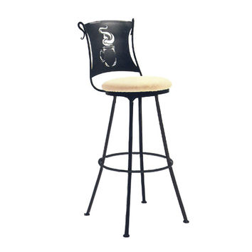 Stone County Ironworks 902755-CTH-901856 Coffee Cup Antique Copper Barstool - (In Antique Copper)