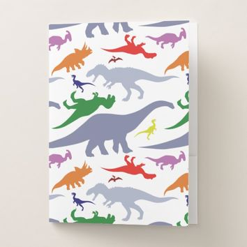 Colorful Dinosaur Pattern (Light) Pocket Folder
