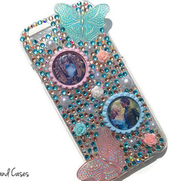 Cinderella Phone Case iPhone 6 Bling Phone Case Cover Rhinestone Phone iPhone 6