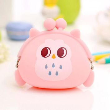 Wallets For Women Owl Silicone Jelly Wallet Ladies  Coin Purse sacoche homme #XTJ