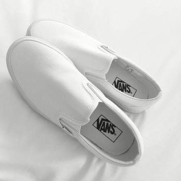 VONEO5 One-nice Vans Black/White Classic Canvas Leisure Shoes