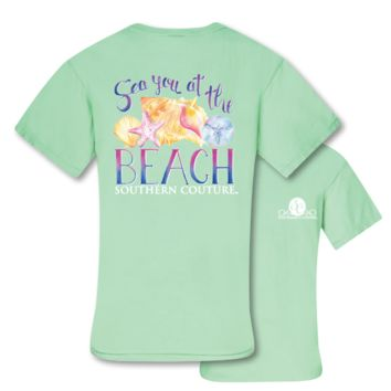 Southern Couture Sea You at the Beach Seashells Comfort Colors T-Shirt