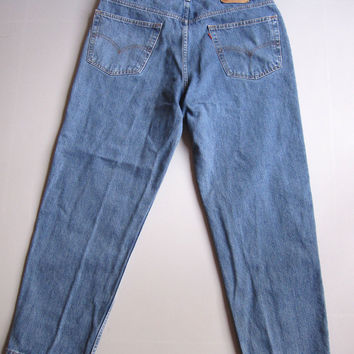 Vintage Men's Levi's 550 Relaxed Fit Blue Jeans 40 X 30 Denim 37 X 29.5