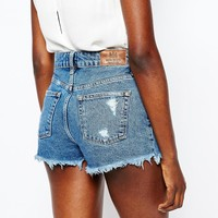 River Island Shorts In Denim Vintage Wash