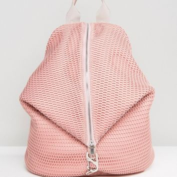 ASOS LIFESTYLE Mesh Dogclip Backpack at asos.com