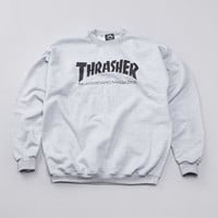 Flatspot - Thrasher Skate Mag Logo Crew Sweatshirt Heather Grey