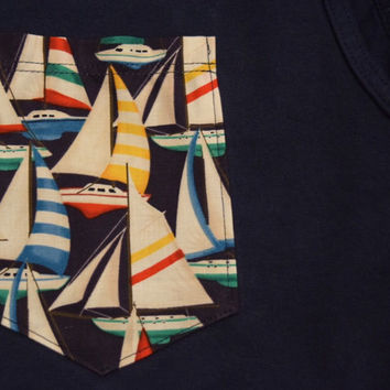 Sailboat Pocket tank, tee, v-neck, or long sleeve
