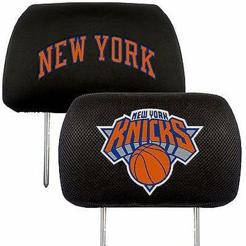 New York Knicks 2-Pack Auto Car Truck Embroidered Headrest Covers