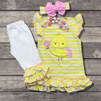 Yellow Chick Capri Outfit