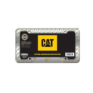 Chrome Diamond Caterpillar CAT License Plate Frame