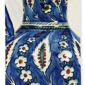 An Ottoman Iznik Style Floral Design Pottery Polychrome, By Adam Asar, No 19a - Bath Towel