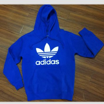 """Adidas"" Women Fashion Hooded Top Sweater Pullover Sweatshirt Blue"