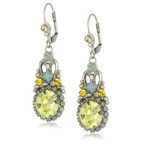 "Amazon.com: Sorrelli ""Atlantis"" Vintage Inspired Oval Cut Crystal French Wire Drop Earrings: Jewelry"