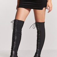 Combat Over-the-Knee Boots