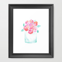 Valentine's Day Flowers Framed Art Print by Hello Monday