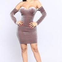 Kayson Velvet Dress - Lavender