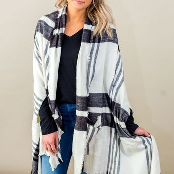 Grace & Lace Winter Weight Pocket Poncho