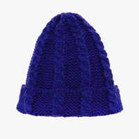 Royal Blue Knitted Hat