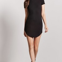 Curved Hem T-Shirt Dress