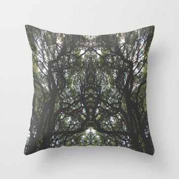 Branches Throw Pillow by Kelly Brown | Society6