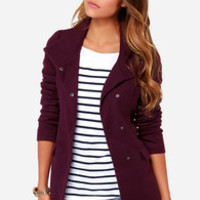 Jack By BB Dakota Cecil Purple Coat