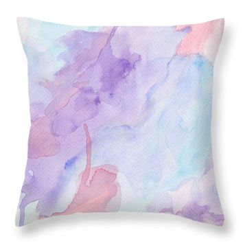 "Leaves Throw Pillow 18"" x 18"""