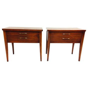 Pre-owned Broyhill Mid-Century Modern End Tables - A Pair