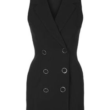 **Tuxedo Dress by Love - Black