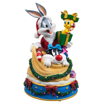 Bugs and Friends in Santa's Toy Bag Figurine Music Box