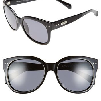 Women's Le Specs 'Mad About You' 55mm Sunglasses - Black/ Polarized Smoke