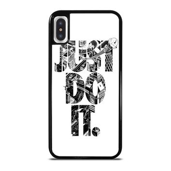NIKE JUST DO IT TYPE iPhone X / XS case