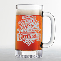 Harry Potter - Gryffindor House Crest - Etched Beer Mug