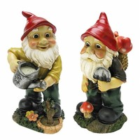 SheilaShrubs.com: Gulliver and Mushroonie Garden Gnome Statues (Set of 2) QL368825 by Design Toscano: Gnomes