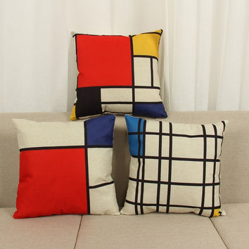"18"" Bohemian Style Cushion Cover Geometric Cotton Linen Cushion Cover Pillowcase Chair Waist Throw Pillow Cover Home Decoration"