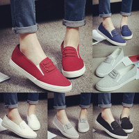 Summer Canvas Slip-Ons Flat Shoes