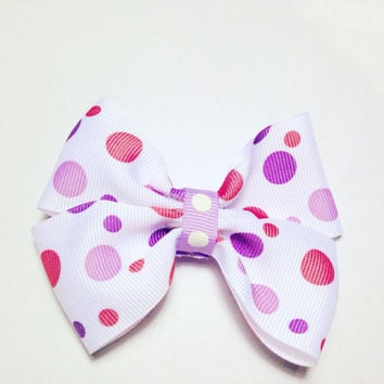 Polka Dot Hair Bow