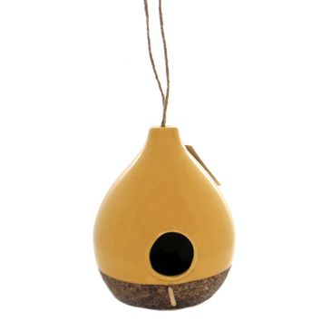 Home & Garden CERAMIC BIRDHOUSE TEARDROP Ceramic Garden Accent 11858