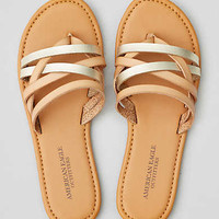 AEO Strappy Flat Sandal , Natural