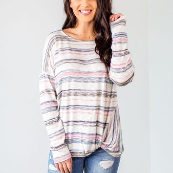 Keep It Cool Striped Top- 2 Options