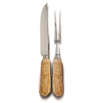 Natural Antler Carving Set - Standard Size