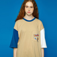 [UNISEX] Strike pocket t-shirt (beige) > 반팔 | 힙합퍼|거리의 시작 - Now, That's Street