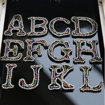 ZGTGLAD 26 English letters Beaded Patch sequin patch diy clothing decorative supplies embroidery flower bead applique patch