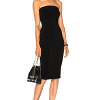 Norma Kamali Strapless Dress in Black | FWRD