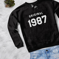 30th birthday for her gift sweatshirt women pullover sweatshirts crewneck sweater graphic sweater birthday gift for her original 1987