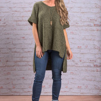 Warm And Chunky Sweater, Olive