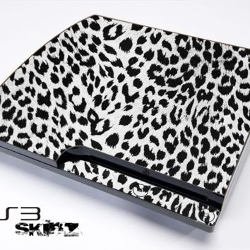 White & Black Leopard Skin for the Playstation 3