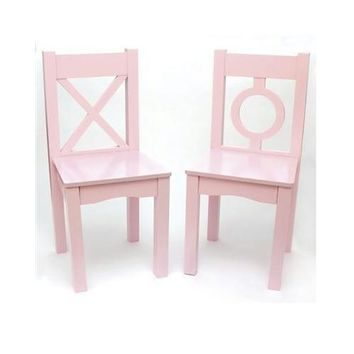 Childs Chairs Light Pink 2pk