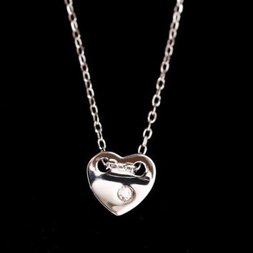 Shine on the Heart Rhinestone Necklace - LilyFair Jewelry