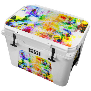 Painted Chaos Combining To Form Bubbles Skin for the Yeti Tundra Cooler