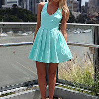 BLESSED ANGEL DRESS , DRESSES, TOPS, BOTTOMS, JACKETS & JUMPERS, ACCESSORIES, 50% OFF SALE, PRE ORDER, NEW ARRIVALS, PLAYSUIT, COLOUR, GIFT VOUCHER,,Blue,Green,CUT OUT,SLEEVELESS,MINI Australia, Queensland, Brisbane
